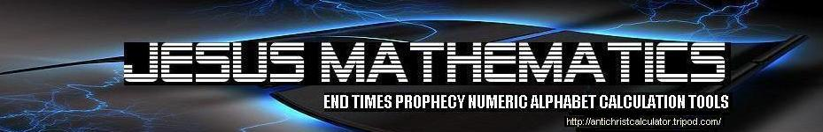 Antichrist mark of beast numeric alphabet 666 calculator